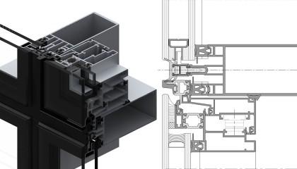 FS-50 Giydirme Cephe Stick Sistem